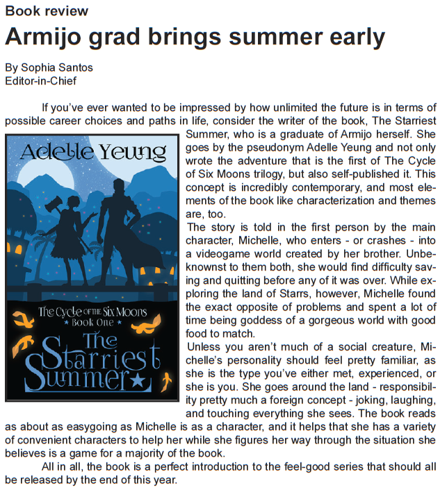 Armijo SIgnal Feb 2016 Starriest Summer review