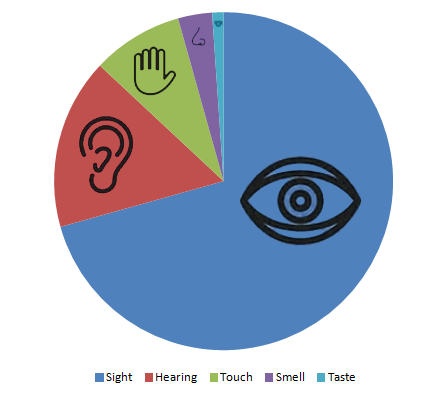 Senses Pie Chart color