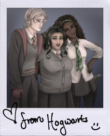 Hogwarts Polaroid signed